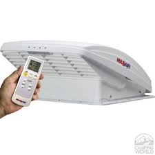 Maxxair-Deluxe-with-rain-dome,-thermostat,-power-lift-and-remote