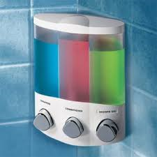 triple corner shampoo dispenser