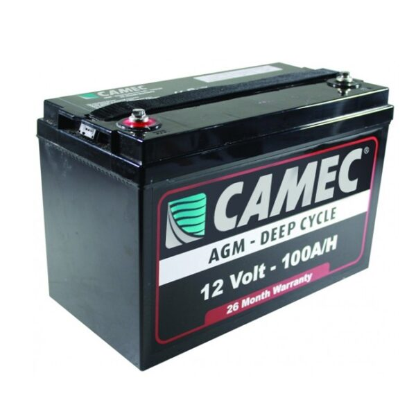Camec 12volt 100 amp hour deep cycle battery