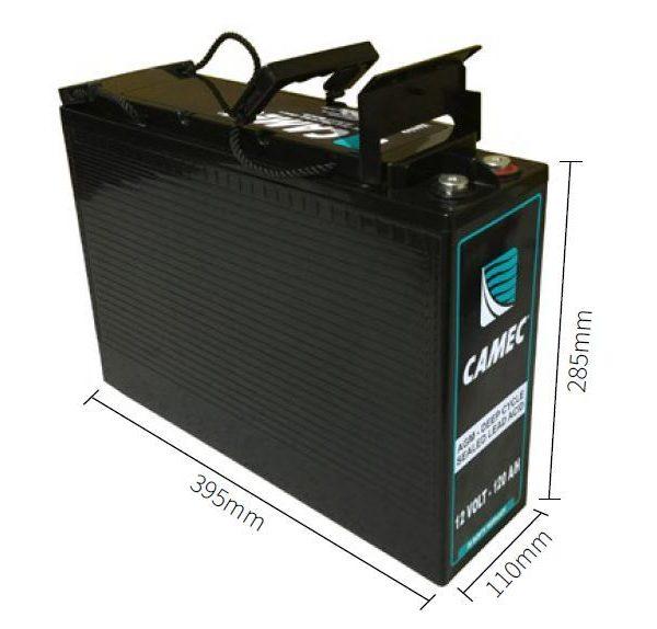 Camec 12volt 120 amp hour slim deep cycle battery
